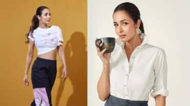 Watch Malaika Arora do the tripod headstand pose to strengthen her core and reduce stress