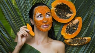 Hydrate dry and dull skin with this papaya peel and malai face pack